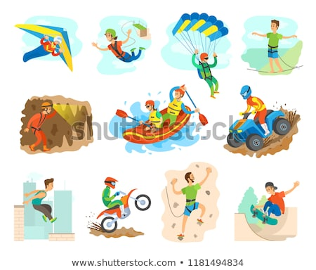 Dangerous Activity, Extreme Sport, People Vector Stock photo © robuart