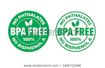 certified bpa bisphenol free icon logo symbol Stock photo © SArts