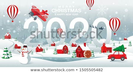 neşeli · Noel · ışıklar · mutlu · altın · hediye - stok fotoğraf © frimufilms