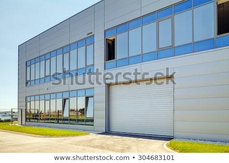 подробность промышленных здании стены новых красный Сток-фото © simazoran