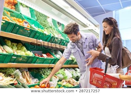 paar · kopen · supermarkt · vrouw · voedsel - stockfoto © kzenon