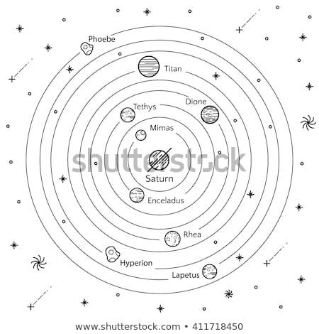 Nowoczesne naukowy przestrzeni satelitarnej orbita Zdjęcia stock © mechanik