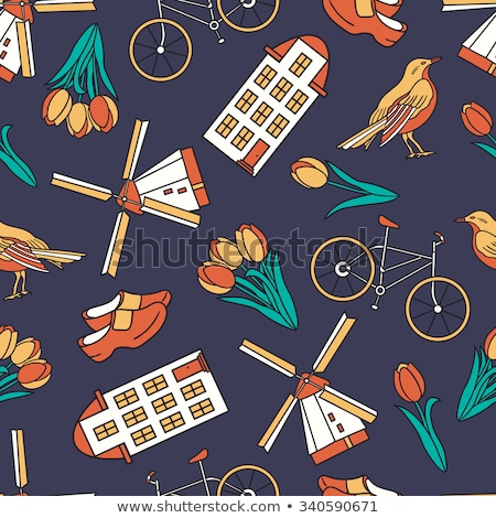 オランダ · アイコン · パターン · eps · 10 · コーヒー - ストックフォト © netkov1