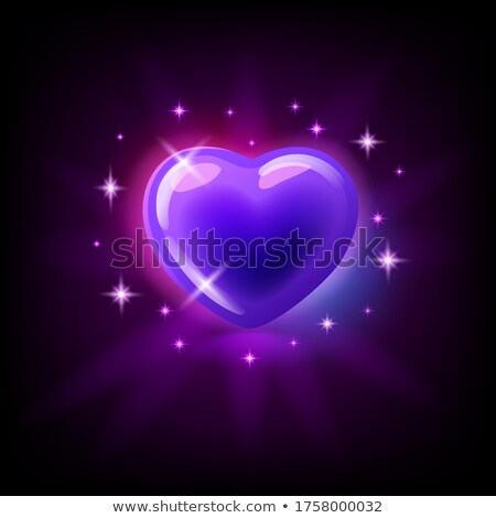 Bright pink glossy heart with sparkles, slot icon for online casino or logo for mobile game on dark  Stock photo © MarySan