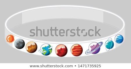 planeten · Galaxy · illustratie · zon · maan · achtergrond - stockfoto © bluering