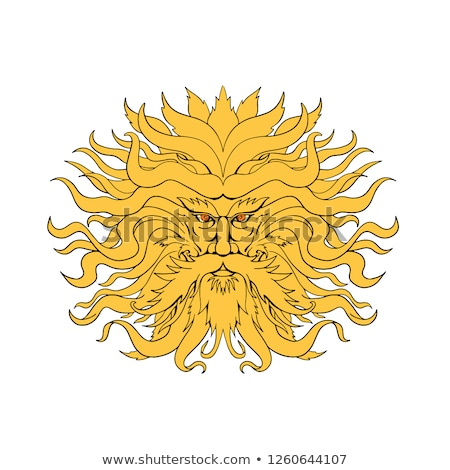 Helios Greek God of Sun Head Drawing Color Stock photo © patrimonio