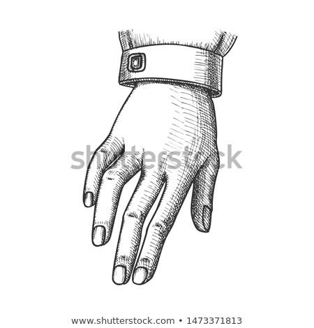 Dziewczyna gest podpisania atramentu wektora Zdjęcia stock © pikepicture