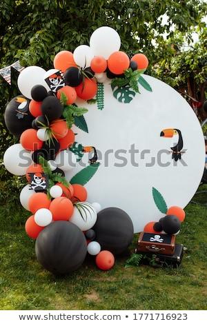 mutlu · yıllar · hediyeler · balonlar · örnek · konfeti · parti - stok fotoğraf © robuart