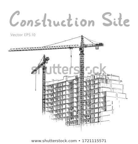 Cityscape город строительство здании механизм вектора Сток-фото © robuart