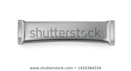 Sauber Verpackung Aluminium weiß Design Hintergrund Stock foto © butenkow