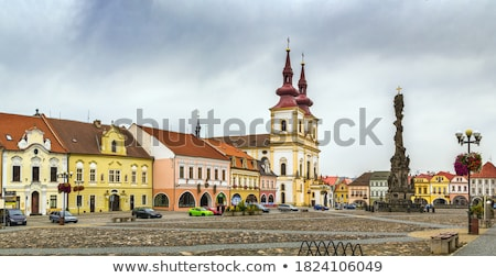 main square in kadan czech republic stock photo © borisb17