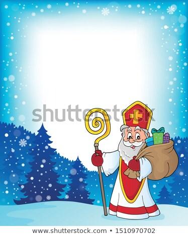 Saint Nicholas topic frame 2 Stock photo © clairev
