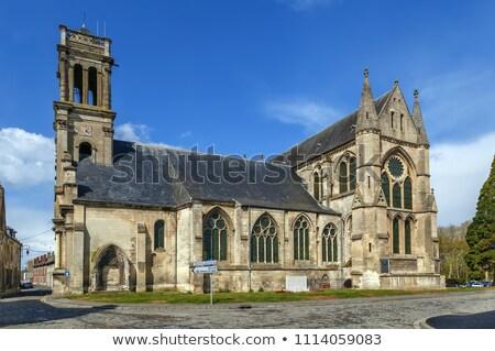 Manastır aziz Fransa kilise şehir inşaat Stok fotoğraf © borisb17