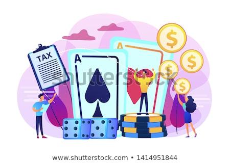 Juego ingresos póquer jugador afortunado casino Foto stock © RAStudio