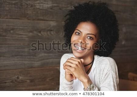 Africano americano mulher mão oração Foto stock © wavebreak_media