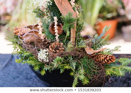 Grave decoration for sale in gardening shop Stock photo © Kzenon