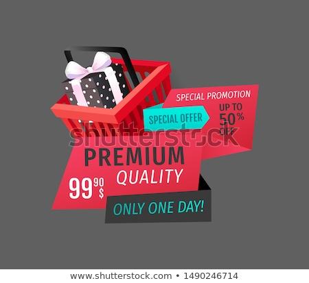 Prämie Qualität Tag bieten isoliert Banner Stock foto © robuart