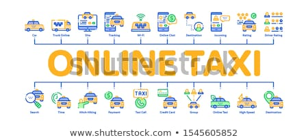 Online taxi banner vector Stockfoto © pikepicture