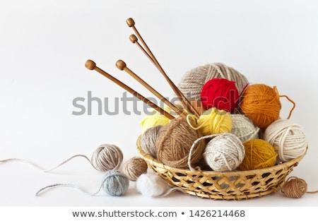 Pelota hilados agujas cesta Foto stock © Illia