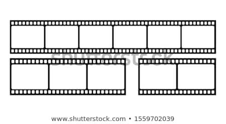 Film strip videocamera in bianco e nero vettore retro film Foto d'archivio © pikepicture