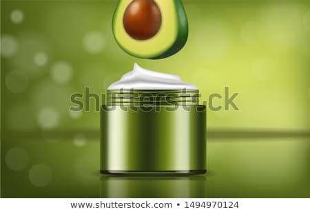 Avocado cream vector realistic. Product placement package. 3d il Stock photo © frimufilms