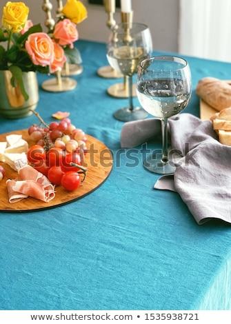 Antipasti colorato set tavola primo piano lastre Foto d'archivio © nito