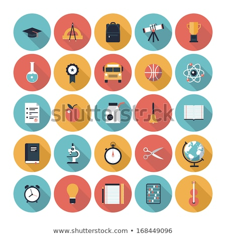 Vector illustration collection of education items Stock photo © Sonya_illustrations