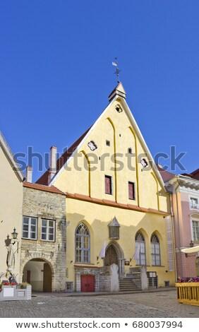 Nagyszerű Tallinn Észtország ház városi építészet Stock fotó © borisb17