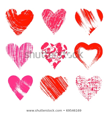vermelho · fluido · forma · de · coração · vinho · sangue · cinza - foto stock © arsgera
