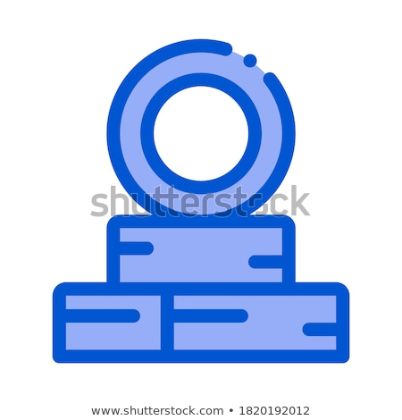 tire repair point icon vector outline illustration Stock photo © pikepicture
