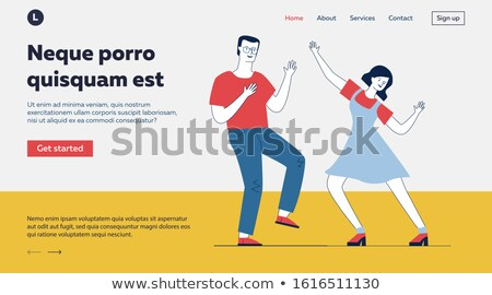 Couple Action, Dancer Moving, Dance Hobby Vector Stock photo © robuart