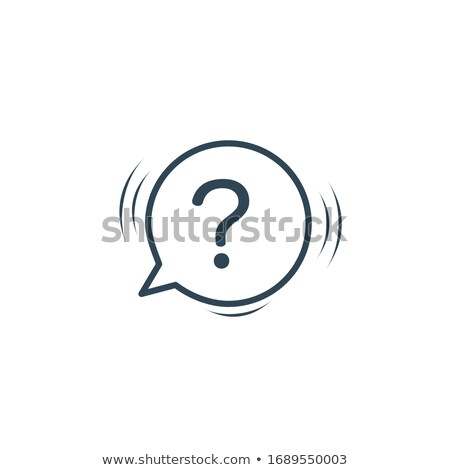FAQ icon woth chat bubble. Communication concept. Stock vector illustration isolated on white backgr Stock photo © kyryloff