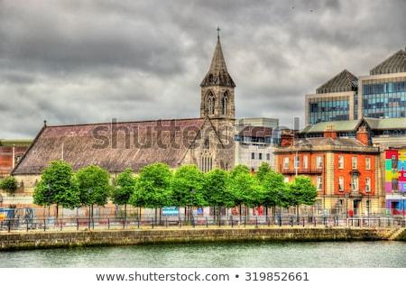 Szív templom Dublin Írország folyó város Stock fotó © borisb17