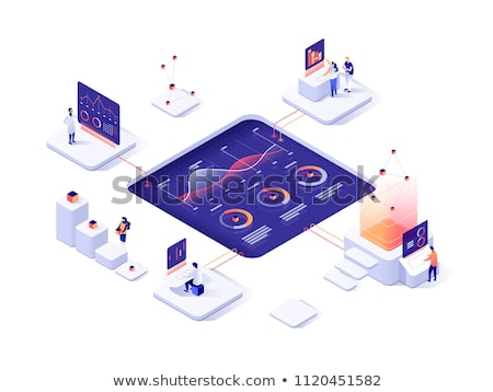 People Analyzing Website Data, Infographics Charts Stock photo © robuart