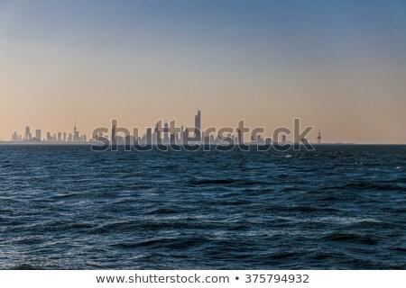 Koeweit gouden silhouet eenvoudige toerisme Stockfoto © ShustrikS