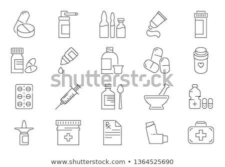 Medicine Bottle Icon Vector Outline Illustration Stock photo © pikepicture