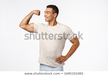 Proud and confident, self-accepting young male athlete, lead active and healthy lifestyle, in good s Stock photo © benzoix