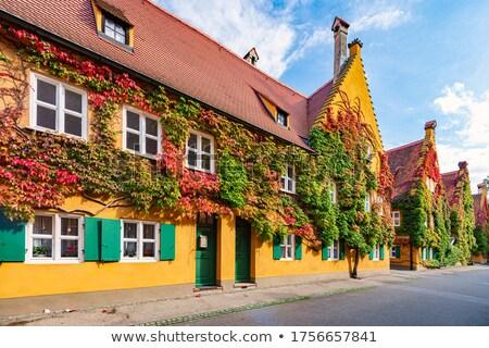 Logement complexe Allemagne sociale ville ciel Photo stock © kyolshin