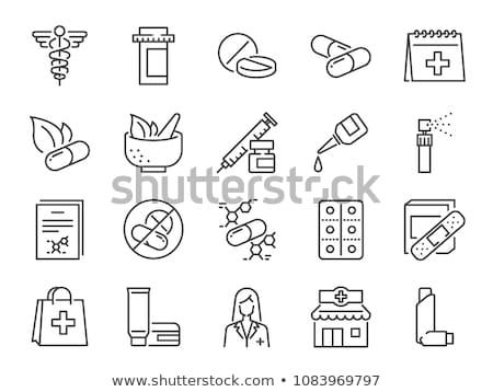 Drog bolt ikon gyűjtemény vektor ikonok háló Stock fotó © ayaxmr