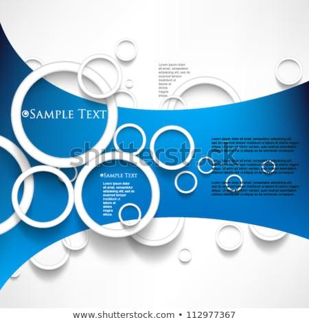 Krom çerçeve mavi duvar vektör şablon Stok fotoğraf © tashatuvango