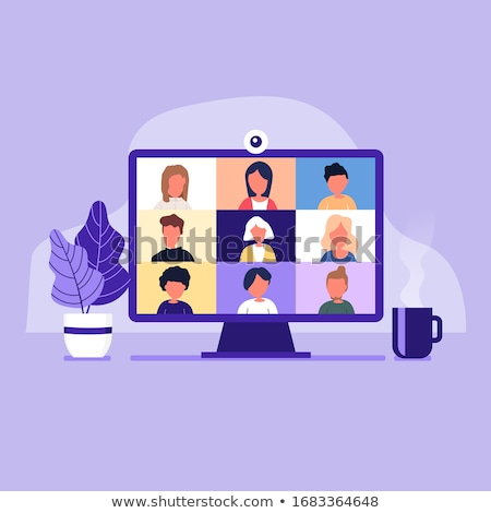 Watching Online Video Conference Meeting Stock photo © AndreyPopov