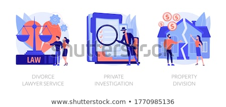 Property division abstract concept vector illustration. Stock photo © RAStudio