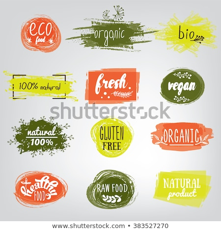 Orgánico eco producto anunciante banner logo Foto stock © robuart
