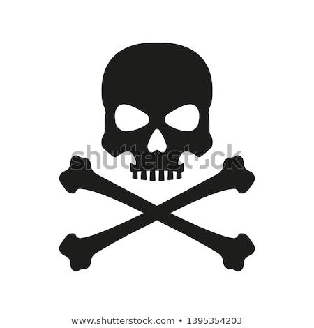 Vrolijk schedel origineel twee botten touw Stockfoto © sharpner