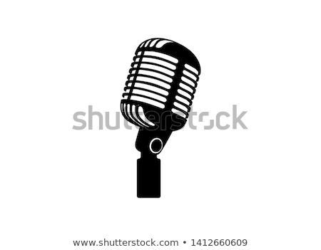 Vieux micro image chrome blanche musique Photo stock © mastergarry