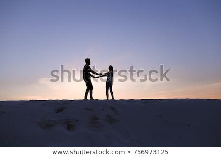 kettő · kezek · egyéb · ökológia · zöld · kéz - stock fotó © deyangeorgiev
