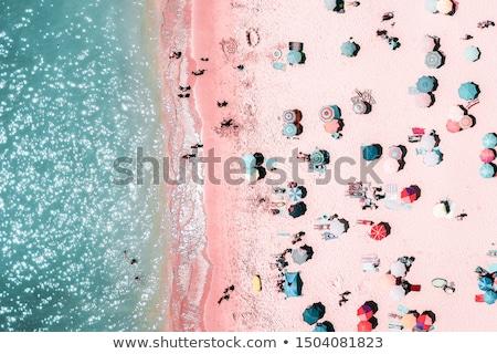 renkli · gölge · plaj · küçük · deniz - stok fotoğraf © hofmeester