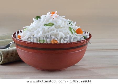 Basmati pirinç Asya Stok fotoğraf © leeser