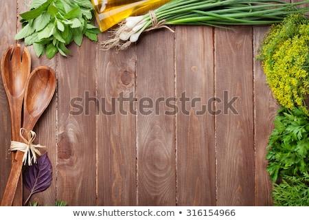 fresh parsley on a cutting board Stock photo © 808isgreat