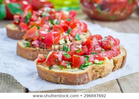 Tomaat olijven bruschetta foto Stockfoto © mpessaris